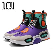 682470a591320 MumuEli New Purple Black Gray 2018 High Top Quality Shoes Men Breathable  Casual Designer Fashion Luxury