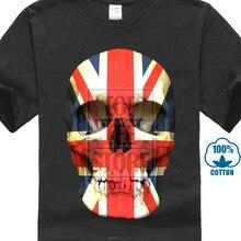 Union Jack Reino Unido Bandeira Do Crânio Camiseta Cabeça Death S Grã-bretanha  Inglaterra Mod( d986c47774f46