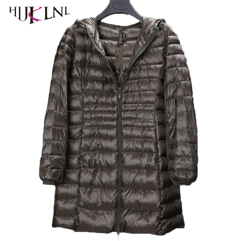 2019 New plus size winter women long   down   jackets 5XL 6XL ultralight   down   parkas with pocket female hooded   down     coat   PL048