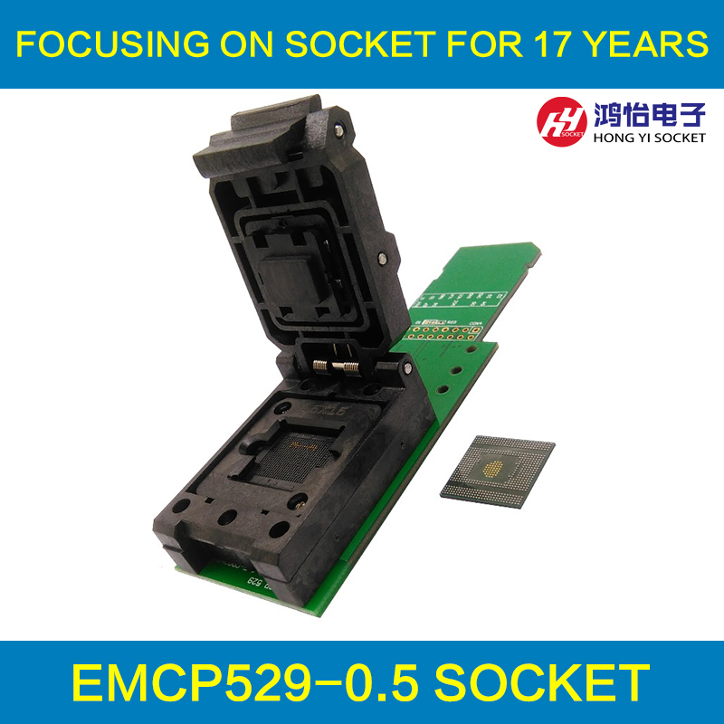 eMCP529 / BGA529 reader test socket with SD interface, BGA529 size 15*15mm for SAMSUNG Flash data recovery