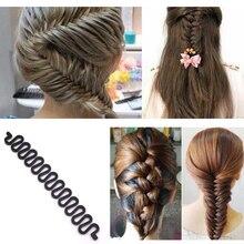 3pcsFashion Hair Braiding Braider Tool Roller With Magic