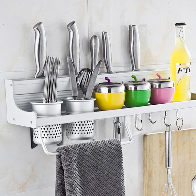 New Arrival Modern Knife Racks Knife Holders Easy Cleaning Storage Rack  Aluminum Home Kitchen Accessories(