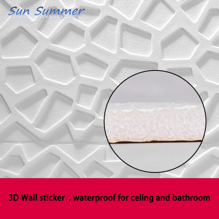 Self Adhesive Bathroom Ceiling Tiles: Creative Roof Decoration Background 3d Wall Sticker
