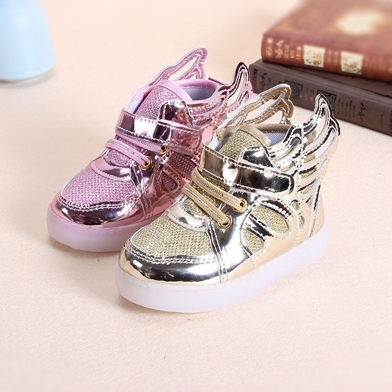25ef6bfa2ee Kids Shoes For Girls 2018 Winter New Christmas Show Light Up Air Yeezy Shoes  Cartoon Wings Glowing Sneakers Boys Girls Shoes -in Sneakers from Mother    Kids ...