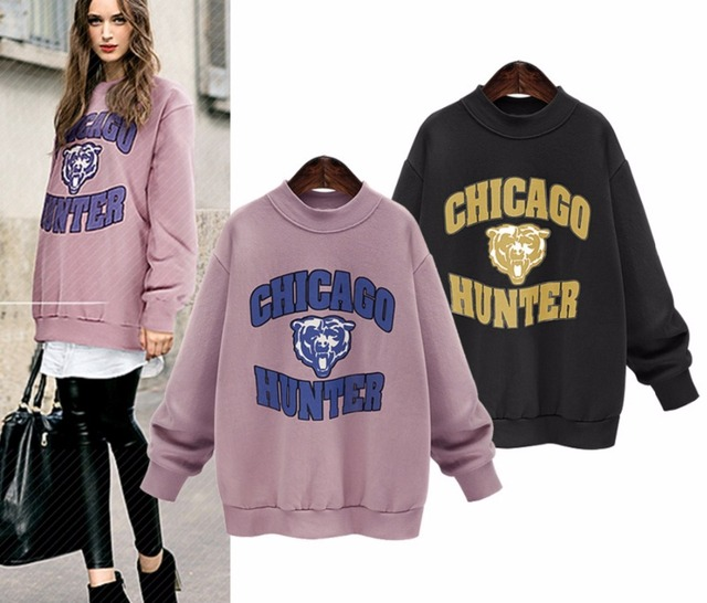 starlist women o neck casual tiger chicago basic tops pullover