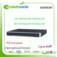 Marvio English Max 8MP H.265 POE 8ch 16ch NVR DS-7608NI-K2/8P DS-7616NI-K2/16P Compatilble with H.264 NVR 4K HDMI Recorder