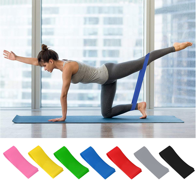 LASPERAL Strength Resistance Band Workout Exercise Gym Pilates Sport Rubber Fitness Bands Training Yoga Equipment