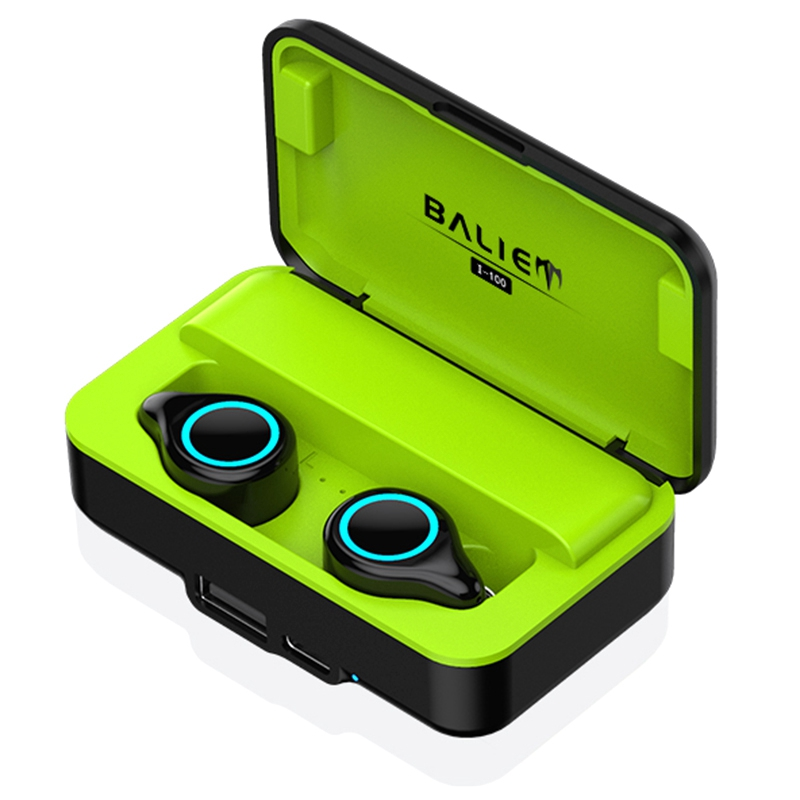 I100Tws Bluetooth 5.0 Headset Mini Earphone For Mobile Phone Ios Android Headset Earbuds In-Ear Dualband Ear Bluetooth Headset