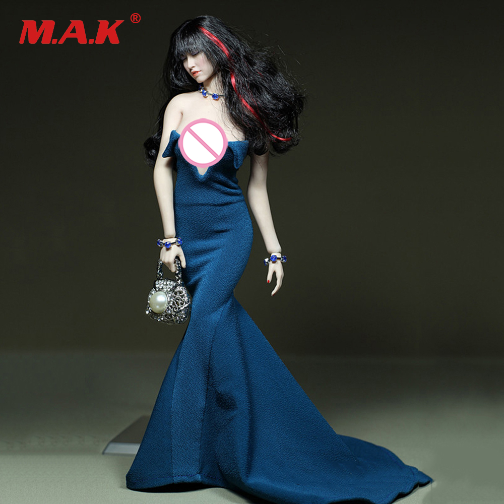 1//6 PU Leather Skirt Soldier Doll Clothing for 12/'/'  Kumik Body Blue