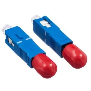 Image 5 - 2 stücke Freies Verschiffen ST Weibliche zu SC Männlichen Fiber Optic Adapter Einzigen modus ST SC Hybrid Optischen Adapter