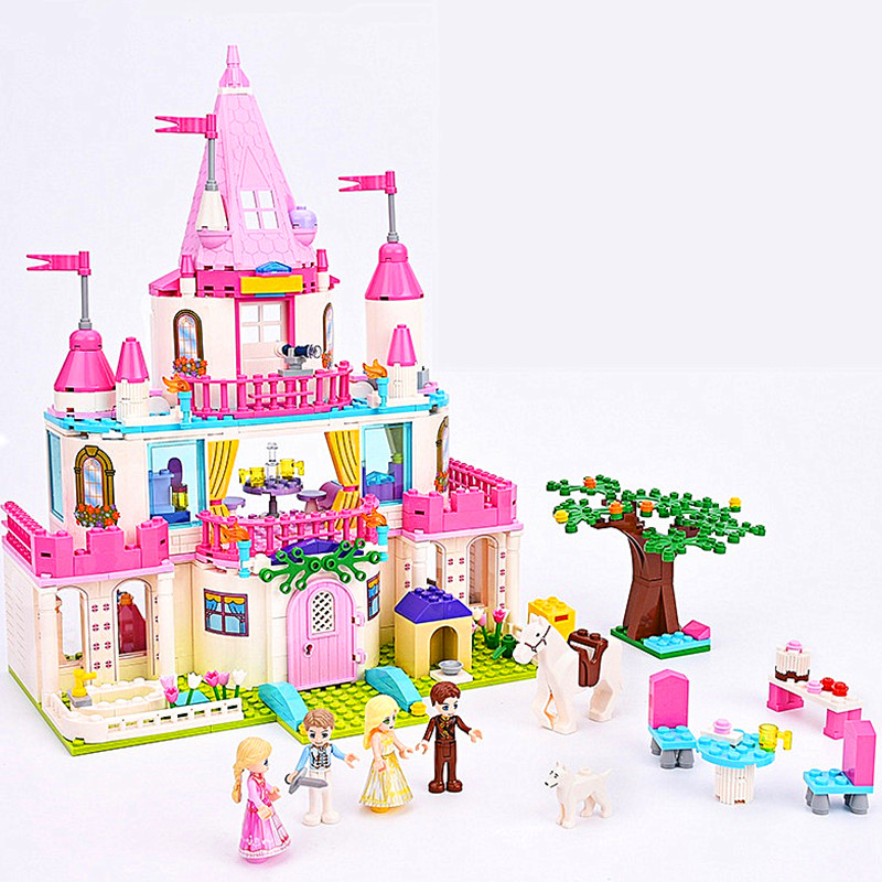 GUDI Friends Series Princess Castle Building Blocks Sets Bricks Girl Enlighten DIY Model Kids Classic Toy Gift Compatible Legoe diy 117pcs princess dream castle park larger particles building blocks toy kids girl best gift compatible with legoed duploe