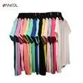 vancol candy color best friends t shirt for female o neck short sleeve top women summer simple solid color o neck t shirt