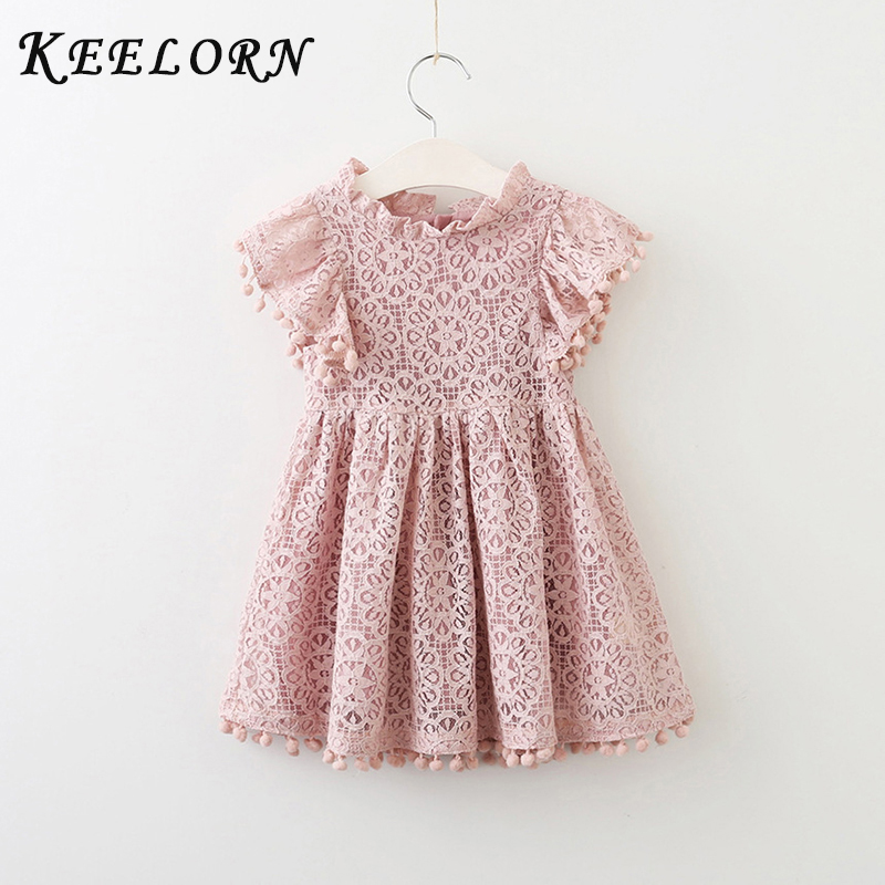 Keelorn Girls Dress 2017 New Casual Style Girls Dresses Kids Clothes Flower Princess Dress For Summer 2-4years Kids keelorn girls dress 2017 brand princess dresses kids clothes sleeveless banana leaf pattern print design for girls clothes