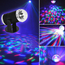 AC110-230V 50/60 HZ 3W Music Active LED Light Laser RGB Stage Effect Lighting Disco DJ (eu plug)