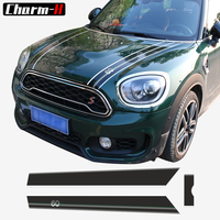 For Mini 60 Years Design Bonnet Stripes Hood Trunk Engine Cover Rear Vinyl Decal Stickers For Mini Countryman F60 2017 Present