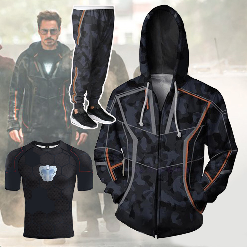 Avengers Endgame 4 Quantum Realm 3D Print Hoodie Men Fitness Pullover Sweatshirts Zipper Jacket Cosplay Costume Streetwear