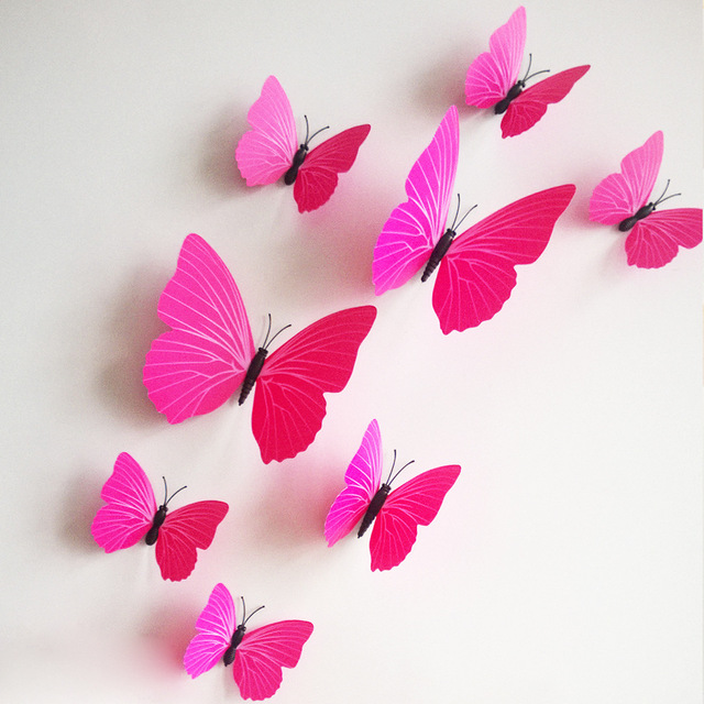 3d butterfly wall stckers wall decors wall art wall.htm free shipping 12pcs pvc 3d butterfly wall decor cute butterflies  12pcs pvc 3d butterfly wall decor cute