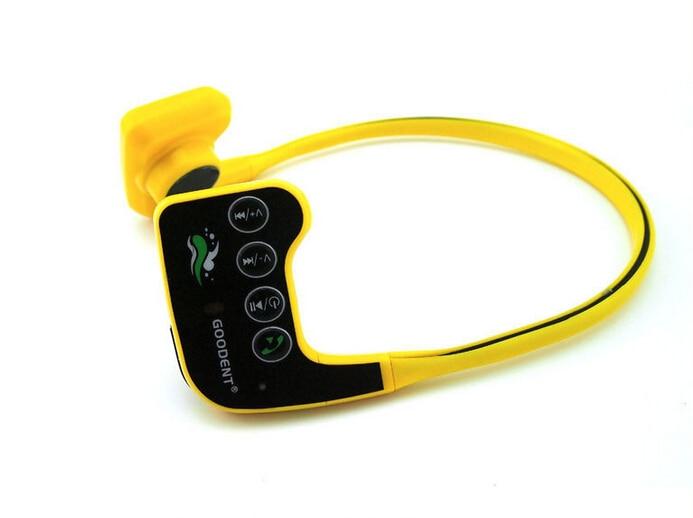 Медицинского и спортивного использования костной проводимости Гарнитура Спорт MP3-плеер IPX68 Водонепроницаемый 10м и 8 Гб памяти