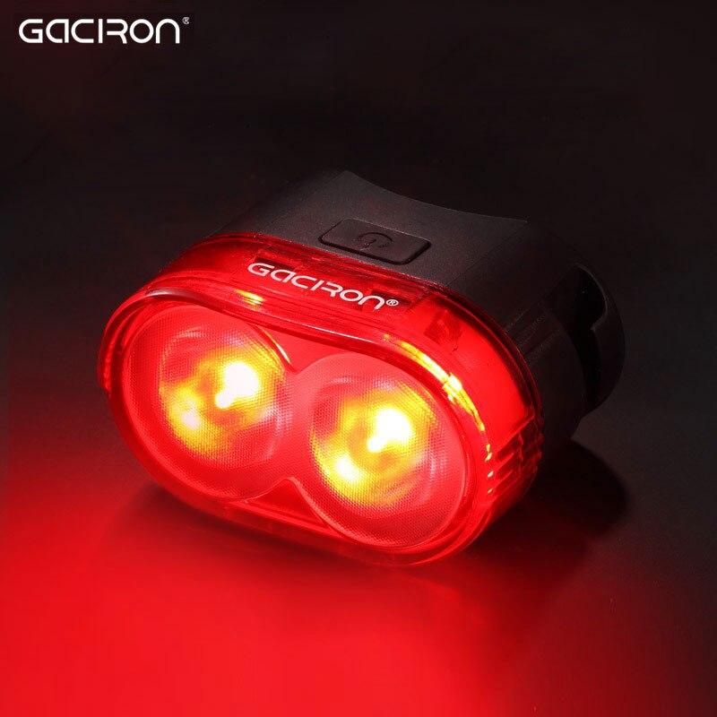 Gaciron Ciclismo Inteligente Visual Aviso de Segurança Luz Da Bicicleta LEVOU Cauda Carga USB Lâmpada de luz Traseira Da Bicicleta 60 Lumen W09 Pós Aero montar