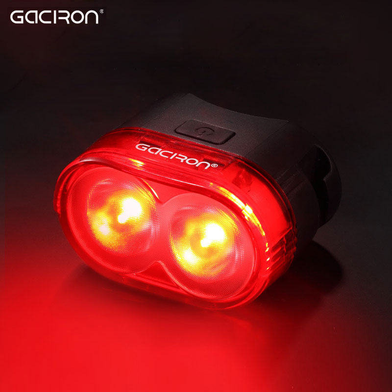 Gaciron Cycling Smart Visual Warning Safety Light Bicycle LED Tail Light Bike Rear Lamp USB Charge 60Lumen W09 Aero Post Mount gaciron bicycle headlight rear light suite pack usb charge internal battery led front tail lamp cycling lighting visual warning