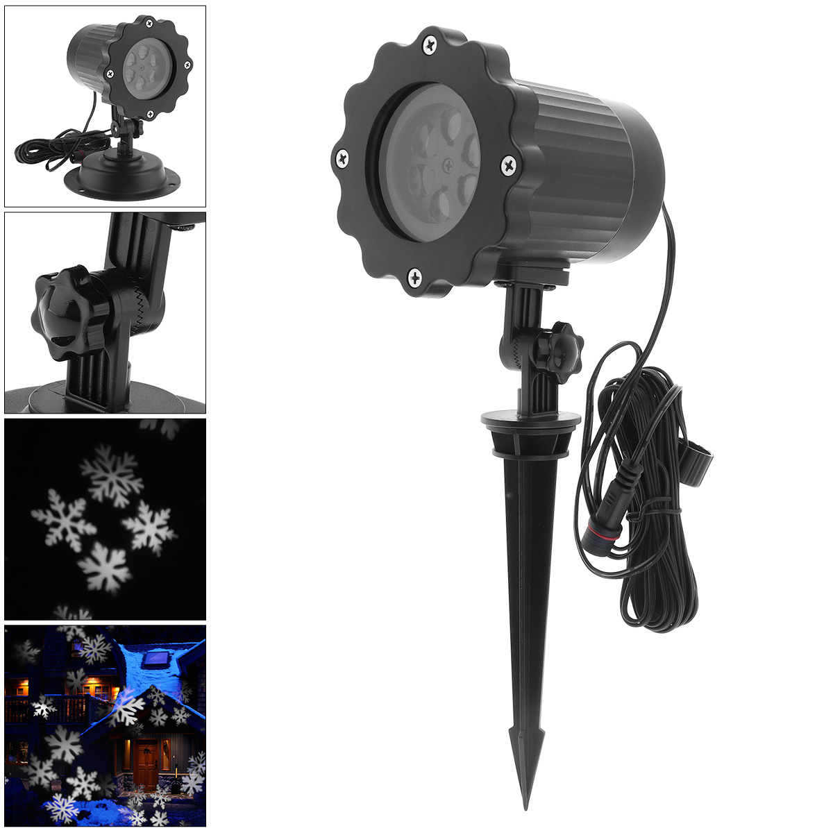 New Outdoor Waterproof LED Projector Light with Stand and Snowflake Effect for Christmas / Stage Decoration