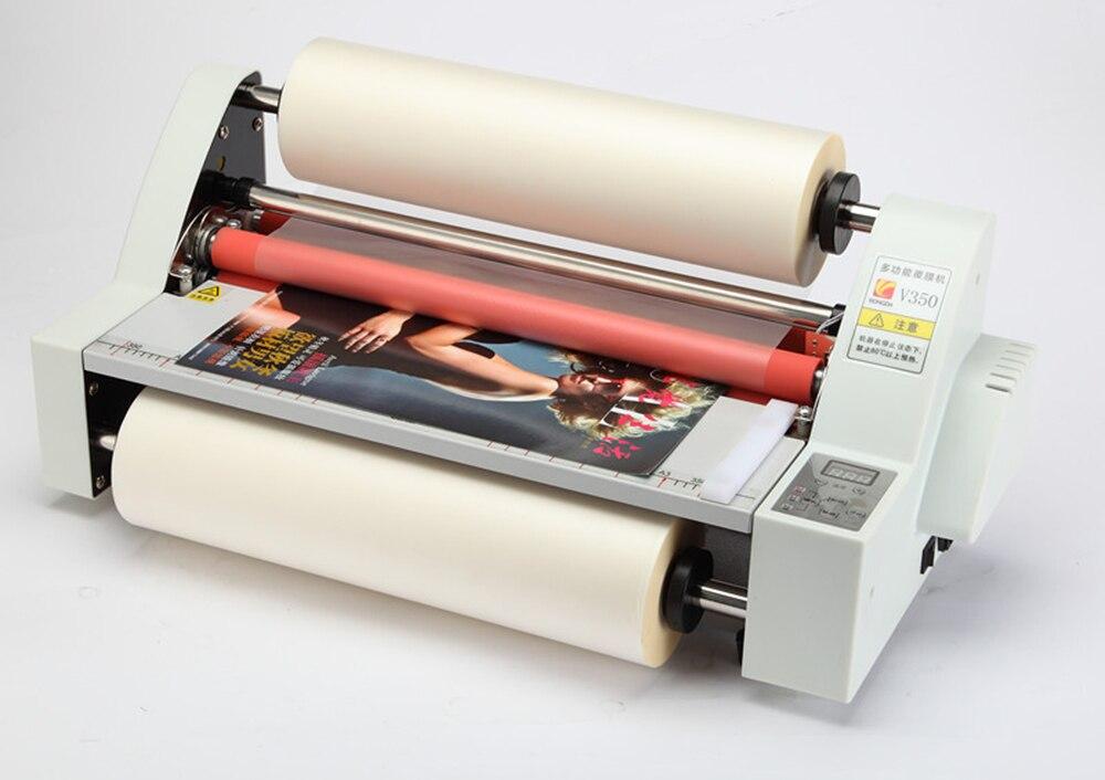 1 шт. 110 В/220 В 13 V350 ламинатор четыре ролики холодной и горячей ламинатор V350 ламинатор горячий рулонная машина для ламинирования