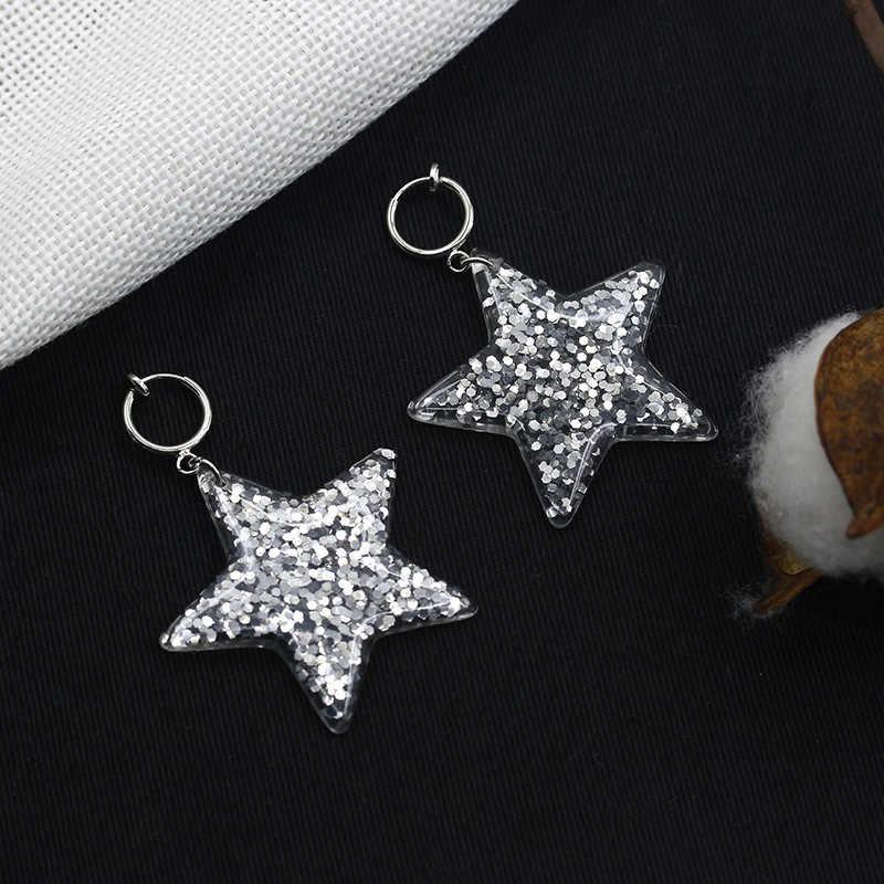 Sao Drop Tai Tai Đồ Trang Sức Đối Với Phụ Nữ Acrylic Hoa Tai Ngọc Bạc Màu Dangle Charm Earring Clip Phụ Kiện Thời Trang Pendientes