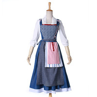 Beauty And The Beast Princess Belle Cosplay Costume Blue Dress Costumes Fantasia Women Halloween Cosplay