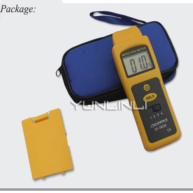 0-80% Inductieve Vochtmeter Muur Bouw Materiaal Vochtigheid Detector Muur Bouw Vocht Test Instrument Apparatuur Grondstoffen Zijn Zonder Beperking Beschikbaar