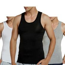 2 PCS/Lot Tank Tops Men Modal full stretch Solid Vest Male Breathable Sleeveless Tops Slim Casual Undershirt Black (2 pack)
