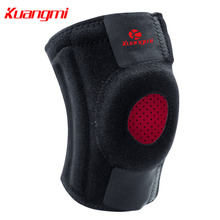 цена на Kuangmi 1 PC Knee Brace Support Sports Leg Wrap Protector Springs Brace Cap Patella Guard Breathable Mesh 2 anti-slip strips