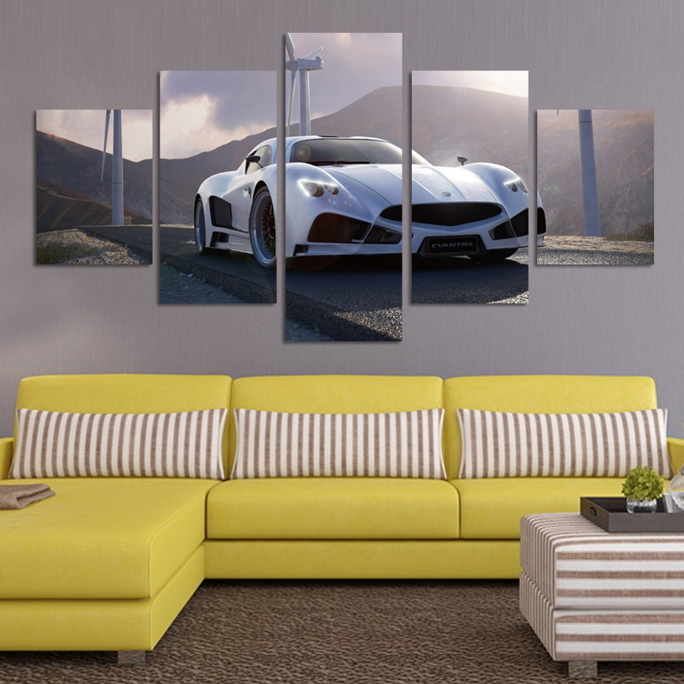 Living Room Wall Large HD Art Pictures for Gift Unframed 5 Panel ...