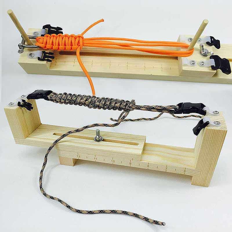 Weaving Tools DIY Jig Solid Wood Paracord Bracelet Maker Knitting Tool Knot Braided Parachute Cord Bracelet Tools 2017ing