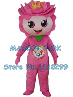 pink Lotus mascot costume custom cartoon character cosply adult size carnival costume 3150