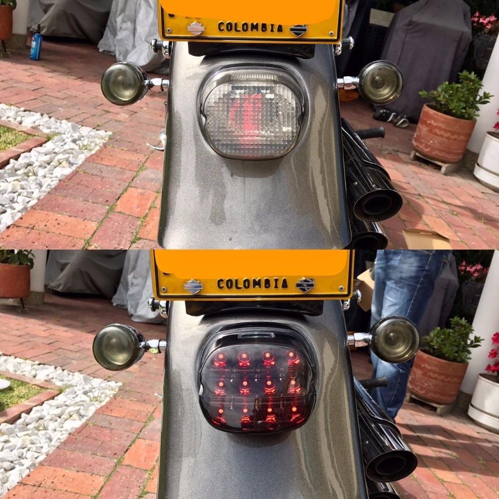 Harley completo lámpara de cola Asamblea Marcos de matrícula luz ...
