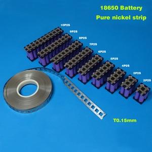 Image 3 - Livraison gratuite 18650 batterie nickel pur bande 18650 cellule nickel bande 0.15*27*5000mm nickel ceinture utilisée pour 18650 support de batterie