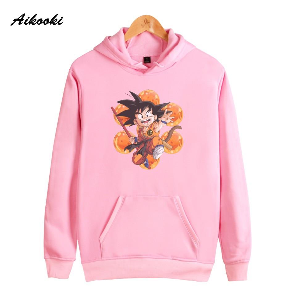 Aikooki Dragon Ball Z Women Hoodies Sweatshirts Brand Famous Cartoon Fashion Harajuku Sweatshirt Female Long Sleeve Casual Coat