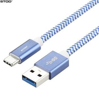 Kabel USB Typu C 6.6FT BTOD Nylonowy Oplot USB-C 3.1 Szybkie Ładowanie 3A Dla Samsung S8 S8 + Huawei Xiaomi Meizu Oneplus LG Typu c Drutu