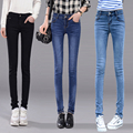 skinny jeans woman denim slim pencil pants washed blue black color sexy high waist jeans femme woman trousers