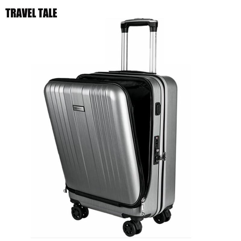 """REIZEN TALE 20 """"inch mannen en vrouwen spinner laptop carry op trolley bagage cabine koffer op wielen-in Rij bagage van Bagage & Tassen op  Groep 1"""