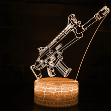 Game Battle Royale Remote Control 3d Table Lamp Scar Led Light Bedroom Decoration Night Projection