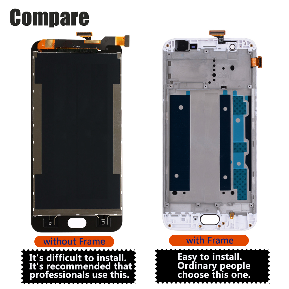 5 5 39 39 For OPPO F1S LCD Touch Screen Digitizer With Frame for Oppo F1S A59 A1601 OEM Original LCD Display Replacement in Mobile Phone LCD Screens from Cellphones amp Telecommunications