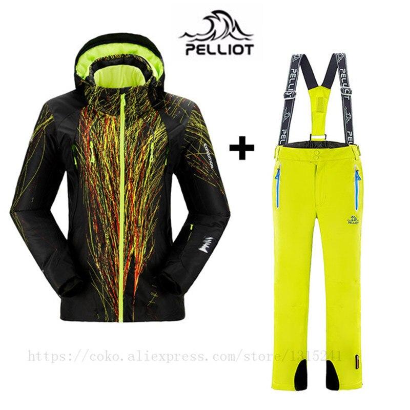 PELLIOT Marque Ski Costume Femmes de Montagne En Plein Air Costume de Ski D'hiver Coupe-Vent Imperméable Ski Jakcet + Pantalon de Snowboard Épaississent Chaud