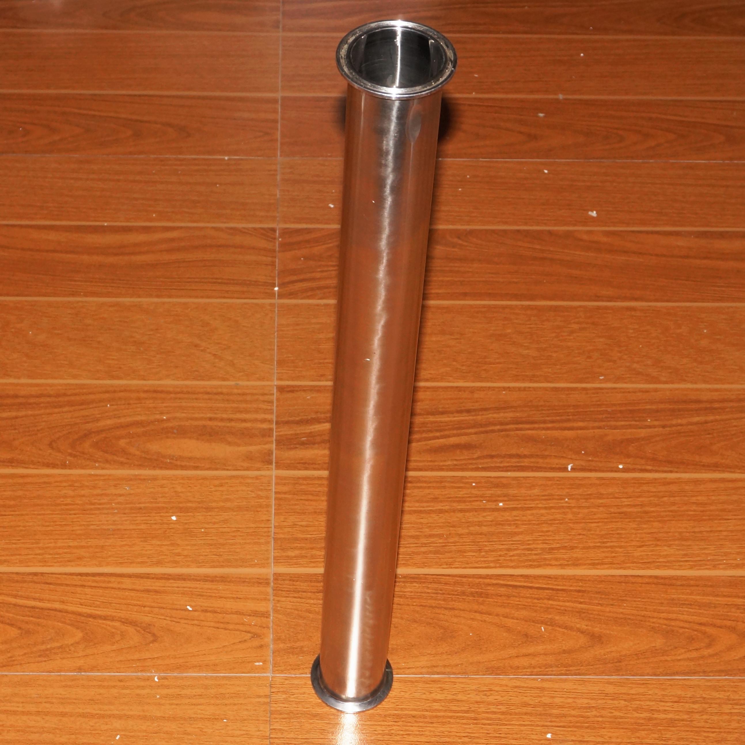 2 Tri Clamp x 51mm OD Tuyau Sanitaire Bobine Tube Longueur 458mm (18) Pour Homebrew SUS304 En Acier Inoxydable