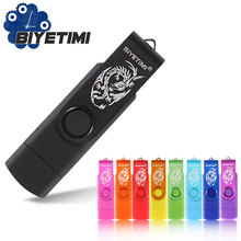 2016 New Biyetimi Real Capacity High Speed Usb Stick 8GB 16GB 32GB Pen OTG 2.0 Android  Drive Pendrive Pen Drive USB Flash Drive