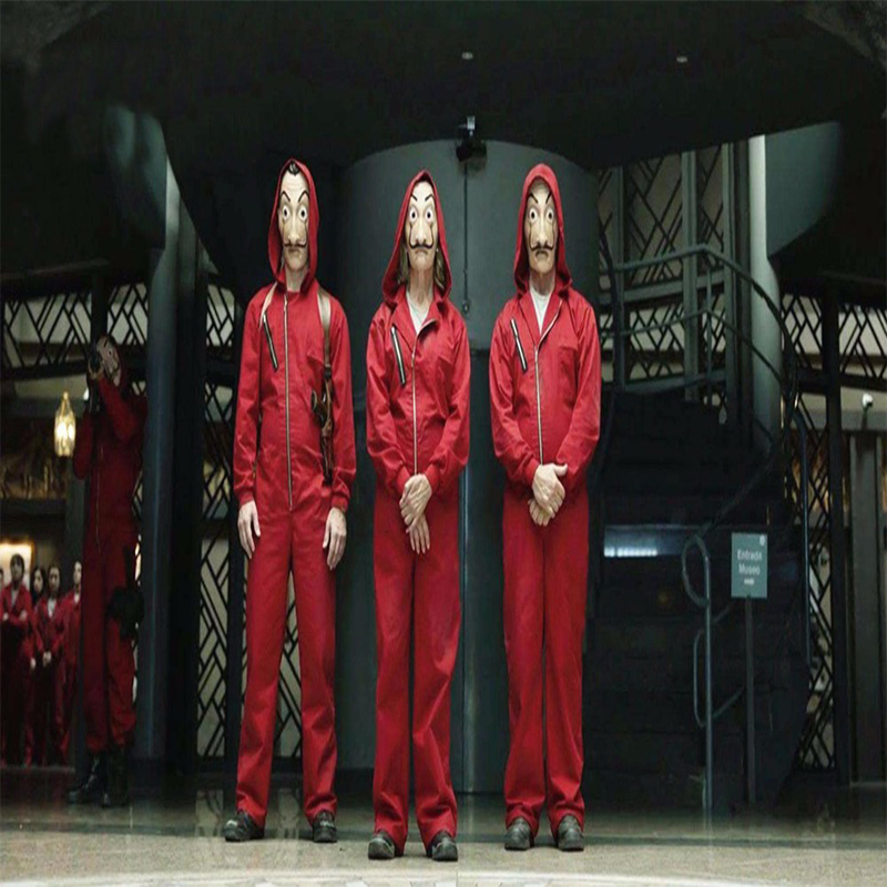 Movies La Casa De Papel Cosplay Costumes Halloween Carnival Cosplay Costumes Man Woman Kid Child Children Cosplay Costume Mask