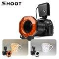 Disparar para cámara digital Led Macro anillo luz de Flash para Canon 1300D 6D Nikon D5300 D3400 D7200 D750 Olympus e420 pentax K50 Dslr