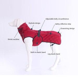 Image 2 - Hond Jas Waterdicht Reflecterende Grote Hond Jas Winter Warm Fleece Pet Jas Verdikking Hond Kleding voor Dierbenodigdheden