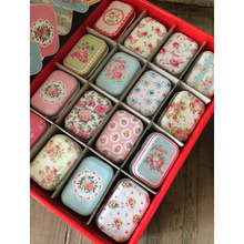 32pcs/lot Vintage Flower Printing Mini Tin Box for Jewelry Wedding Fav