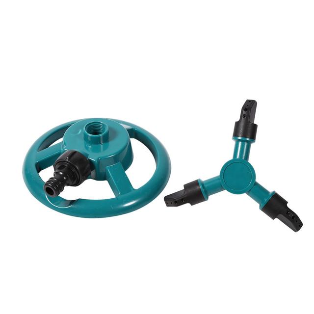 Three Arm Garden Sprinkler Watering Head Lawn 3 Nozzle Water Sprinkler Garden Sprinklers Water Durable Rotary